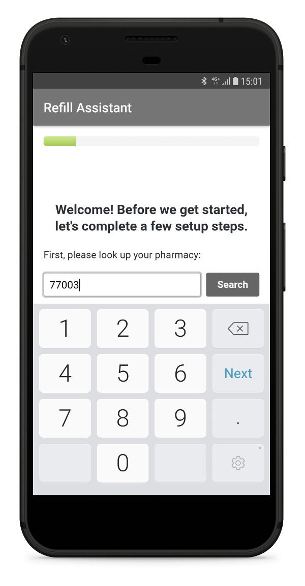 setup steps refill app