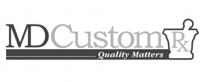 MD custom RX pharmacy Logo