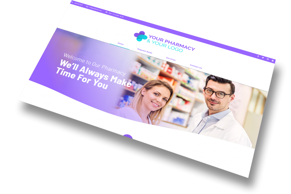 Pharmacy website header section