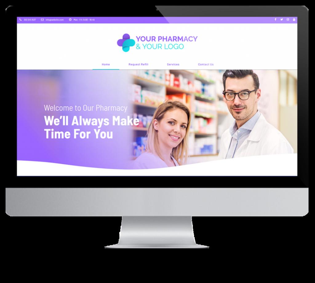 Pharmacy Websites displayed on mac