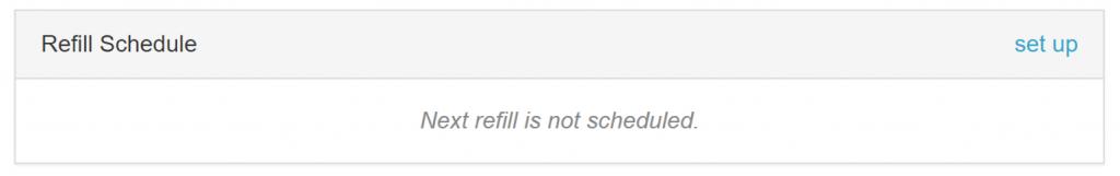Refill scheduler