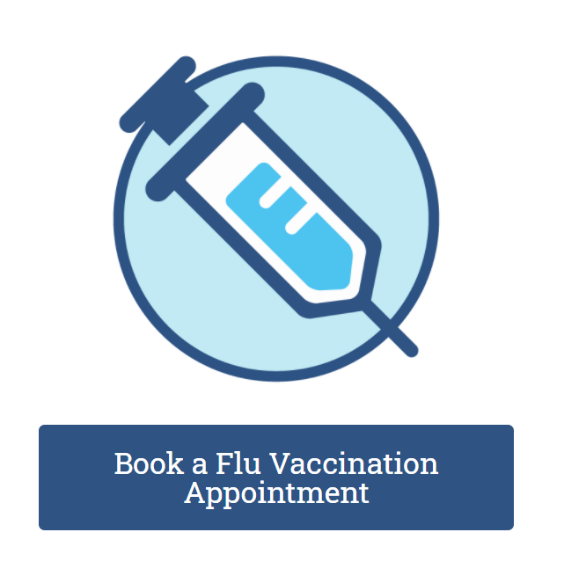 Book flu appointment button
