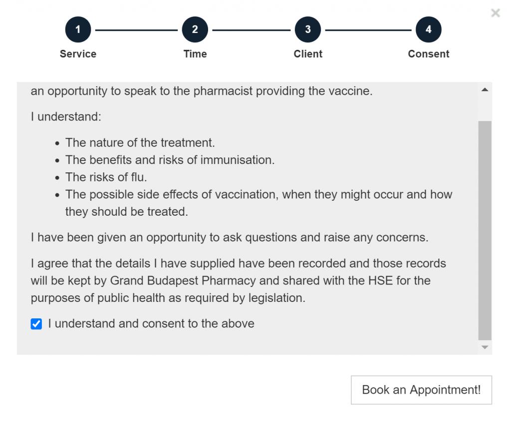 Flu vaccination consent