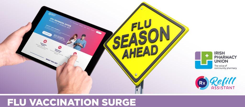 Flu vaccine surge in Irish Pharmacies